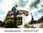 Fashion Young Wedding Couple I...