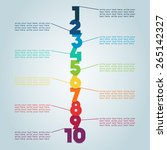 numbered steps 4  | Shutterstock .eps vector #265142327