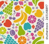 vector seamless pattern with... | Shutterstock .eps vector #265148897