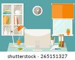 vector flat illustration.... | Shutterstock .eps vector #265151327