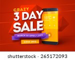 sale poster design with smart... | Shutterstock .eps vector #265172093
