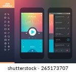 mobile application interface... | Shutterstock .eps vector #265173707