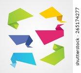 origami banner | Shutterstock .eps vector #265174277