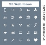 very useful flat web icons on...