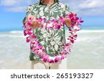 hawaii tradition   giving a... | Shutterstock . vector #265193327