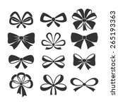 set of bows. | Shutterstock .eps vector #265193363