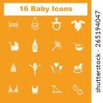 very useful flat baby icons on...