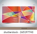 square cover design   Shutterstock .eps vector #265197743