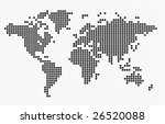 vector dotted world map   Shutterstock .eps vector #26520088