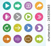 arrow icon set. vector.  | Shutterstock .eps vector #265203683