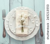 Spring Shabby Chic Table...