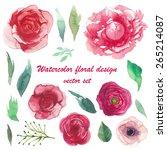 Watercolor Peony  Ranunculus ...