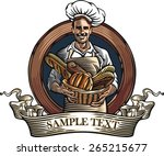 vector illustration of a baker  ... | Shutterstock .eps vector #265215677
