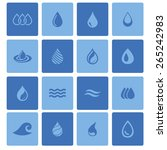 drop icon set  | Shutterstock .eps vector #265242983