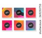 abstract minimal geometric... | Shutterstock .eps vector #265253753