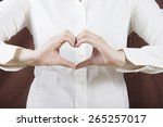 heart shape with business  hand  | Shutterstock . vector #265257017