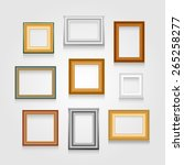 vector set of picture frames on ... | Shutterstock .eps vector #265258277