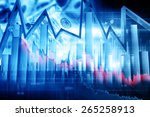 economical stock market graph | Shutterstock . vector #265258913