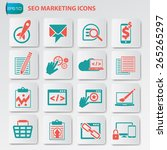 seo marketing development and... | Shutterstock .eps vector #265265297