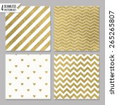 set of 4 gold seamless patterns | Shutterstock .eps vector #265265807