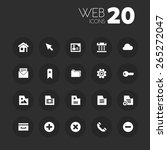 simple thin web icons on dark...