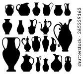Vases Vector Silhuettes Flat...