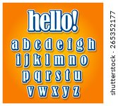 creative font type on orange... | Shutterstock .eps vector #265352177