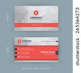 Vector modern creative and clean business card template. Flat design | Shutterstock vector #265364273
