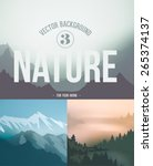 mountain landscape  nature... | Shutterstock .eps vector #265374137