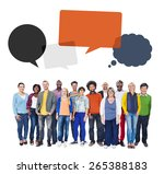 multi ethnic group of people... | Shutterstock . vector #265388183