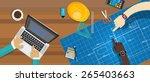 architecture construction desk | Shutterstock .eps vector #265403663