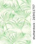 Tropical Leaf Pattern In Vector.