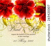 invitation or wedding card with ... | Shutterstock .eps vector #265420307
