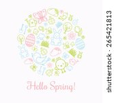 spring icons card design | Shutterstock .eps vector #265421813