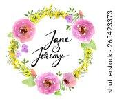 wedding invitation template.... | Shutterstock .eps vector #265423373