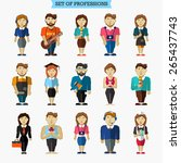 set of professions. from... | Shutterstock .eps vector #265437743