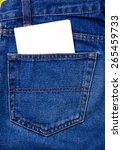 empty note in jeans pocket | Shutterstock . vector #265459733