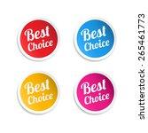 best choice stickers | Shutterstock .eps vector #265461773