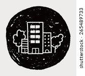 doodle house | Shutterstock .eps vector #265489733