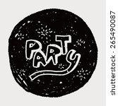 doodle party | Shutterstock .eps vector #265490087