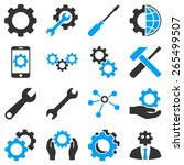 options and tools icon set....