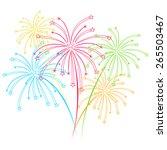 Fireworks Vector On White...
