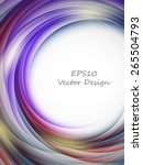 abstract vector background with ... | Shutterstock .eps vector #265504793