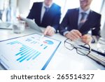 close up of businessmen... | Shutterstock . vector #265514327