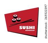 sushi restaurant logo | Shutterstock .eps vector #265522397