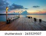 the long boardwalks to the sea | Shutterstock . vector #265529507