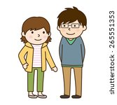 husband and wife   young couple | Shutterstock .eps vector #265551353