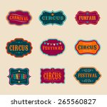 vintage hipster circus labels... | Shutterstock .eps vector #265560827