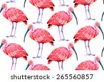 seamless pattern with birds.... | Shutterstock . vector #265560857
