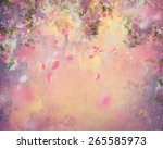 spring cherry blossom with... | Shutterstock . vector #265585973